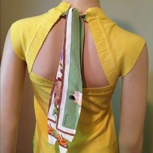 ROBERTO CAVALLI Bright Yellow Knit Top 46